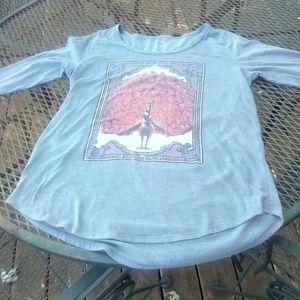 Lucky Brand women's blue long sleeve t-shirt